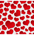 red valentine hearths symbol seamless pattern vector image