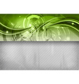 Tech background line top green vector image