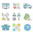 various colored outline business distribution vector image