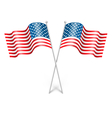 Wavy USA national flags isolated on white vector image