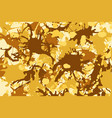 yellow brown ink splashes background vector image