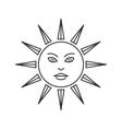 Trendy esoteric sun symbol icon vector image