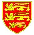 British Three Lions Shield vector image