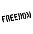Freedom rubber stamp vector image