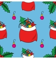Seamless pattern watercolor to Merry Christmas vector image