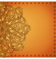 Indian henna background vector image vector image