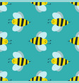 cartoon sweet yellow bee summer worker bug hand vector image