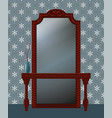 antique mirror vector image vector image