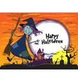 Halloween greeting vector image
