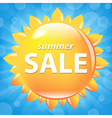 Summer Sale Poster With Sun vector image vector image