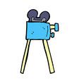 comic cartoon movie camera vector image