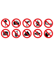 no signs vector image vector image