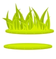 Grass lawn green cartoon clip art vector image