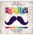 Hipster background in retro style vector image