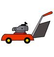 Lawn mower cartoon vector image