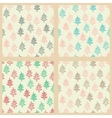 Seamless patterns set with Christmas trees vector image