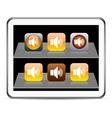 Sound orange app icons vector image