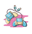 video game controllers vector image