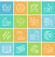 Modern thin line icons of waste sorting vector image