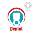 Dentistry isolated icon or emblem vector image vector image