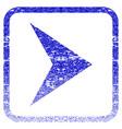 arrowhead right framed textured icon vector image