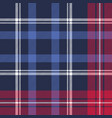 blue diagonal fabric texture plaid seamless vector image