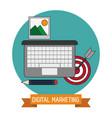 digital marketing target knowledge trade vector image