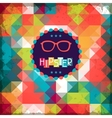 Hipster background in retro style vector image vector image