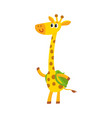giraffe animal student character with backpack vector image