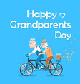 happy grandparents day holiday card with text vector image vector image