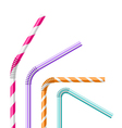 Colorful drinking straws vector image