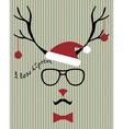 hipster santa deer vector image