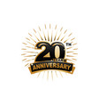 20th anniversary vector image