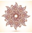 Vintage isolated mandala in Indian mehndi style vector image
