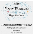 Christmas alphabet written by hand for any use vector image