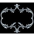 Vintage diamond frame vector image