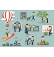 Businessman or manager interacting with money vector image