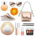 fashion accessories set 6 vector image
