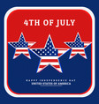 national independence day of america vector image