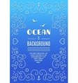 Ocean background Marine frame Nautical vector image