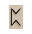 perthro runic alphabet and letters flat icon on vector image
