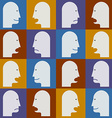 Seamless pattern Peoples faces with different vector image