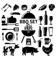 set for BBQ party Grill drinks vector image