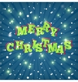 Text design of Merry Christmas vector image