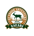 Hunting safari outdoor adventure club sign vector image