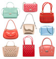 fashion handbags vector image