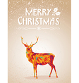 Merry Christmas colorful reindeer shape vector image vector image