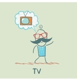 one thinks of the TV vector image vector image