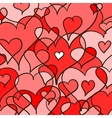 Abstract hearted background vector image vector image
