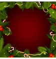 christmas frame with fir-tree vector image vector image